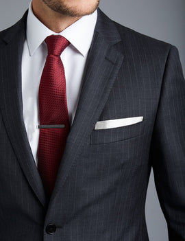 Men's  Grey Pinstripe Slim Fit Suit