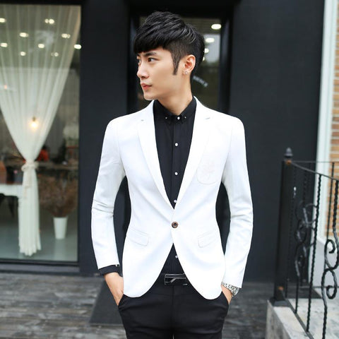 Men white elegant suit