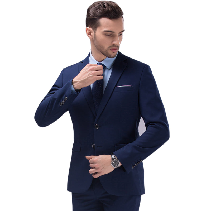 Mens Blue Black suit