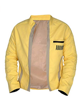 NM Fashions Yellow Classic Slimfit One Front Pocket Cotton Jacket