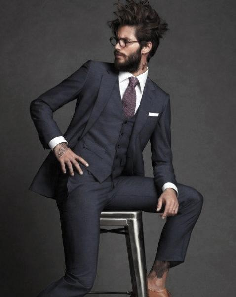 Navy Blue Suit Styles For Men