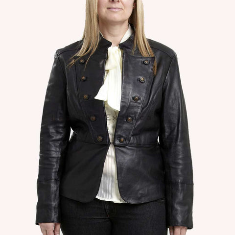 Nice Military Leather Jacket for women