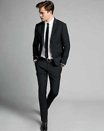 Cute black suit for men