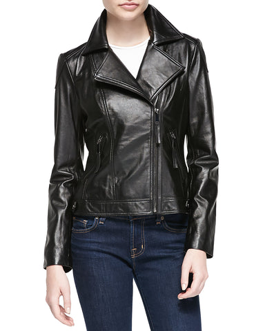 Cute  leather motorcycle jacket for women