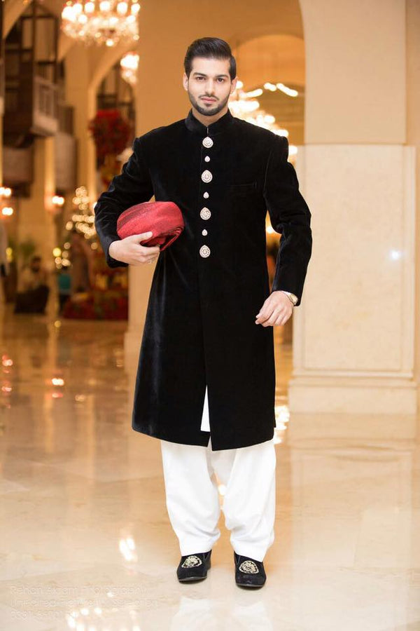 Good looking  Black Sherwani