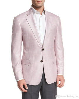 Pink summer suit for men