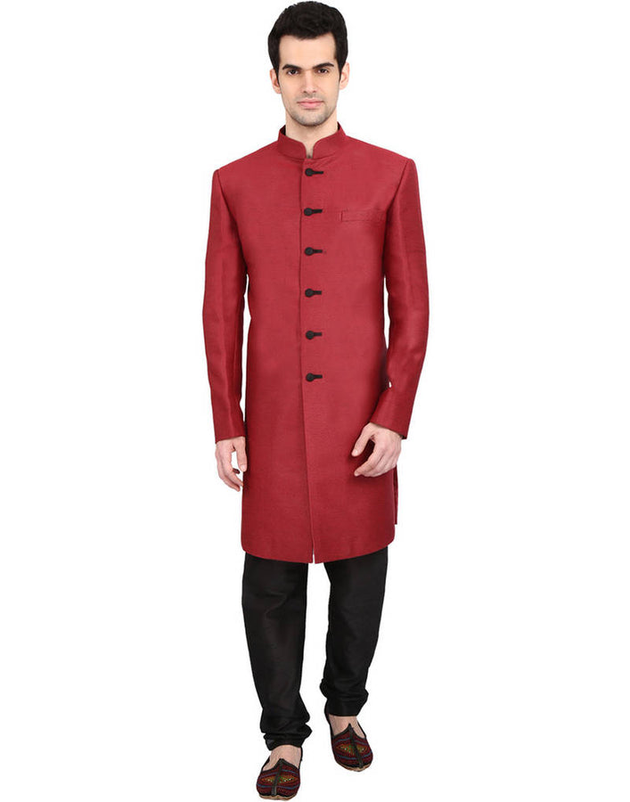 Red-Indian Sherwani
