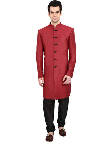 Astonishing Red-Indian Sherwani