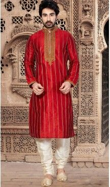 Red Pakistani Sherwani
