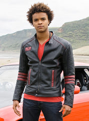 Red Scott Truman Leather Jacket