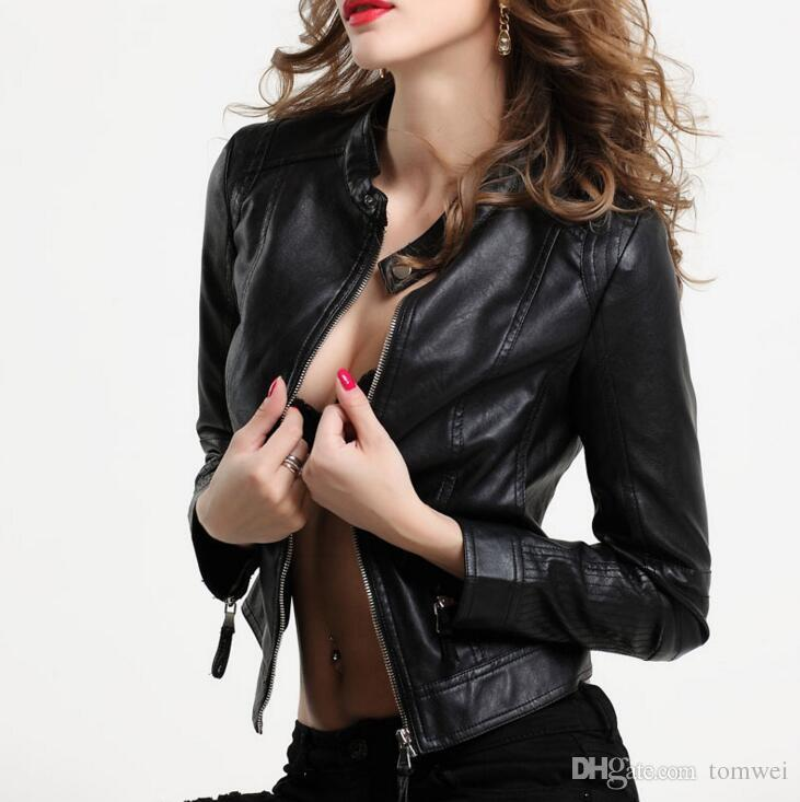 Sexy Leather Jacket Women