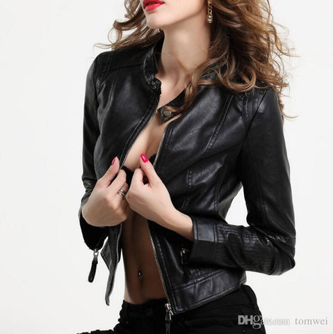 Stylish Leather Jacket Women