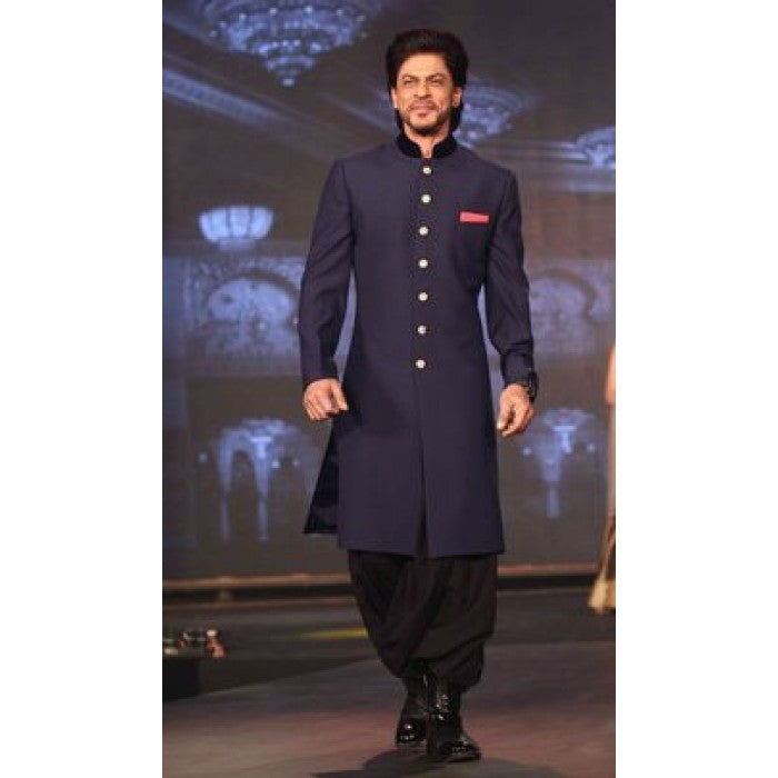 Shahrukh Khan Bollywood Blue Sherwani for Men