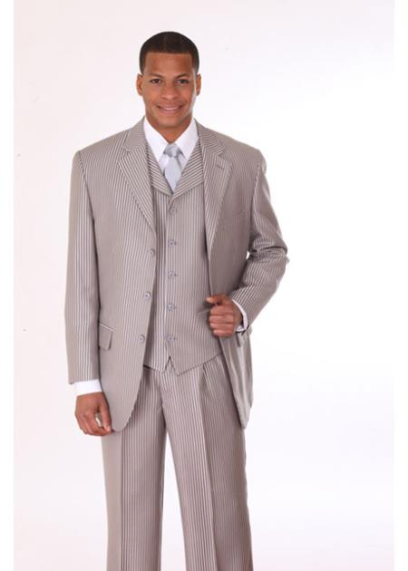 Silver Pinstripe Suit