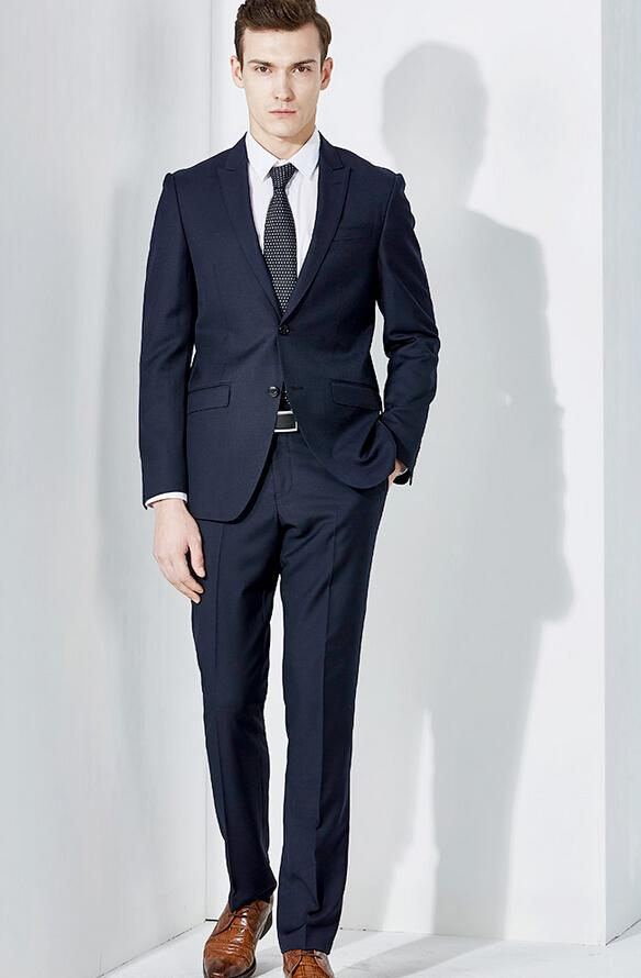 Simple Dark Blue Suit for men