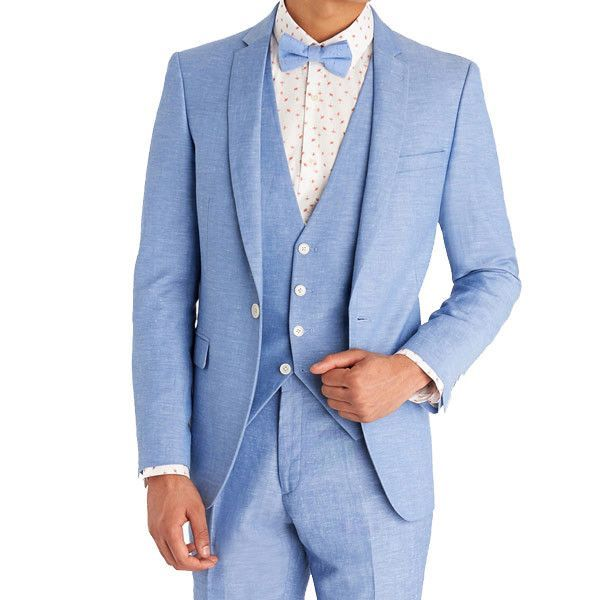 Sky-Blue Summer Suit for Men