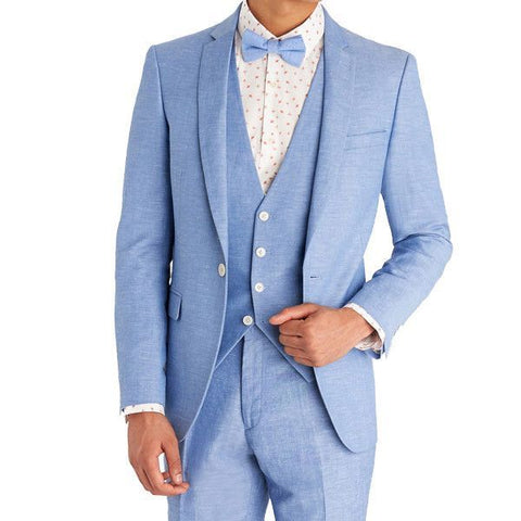 Summer Sky-Blue  Suit for Men