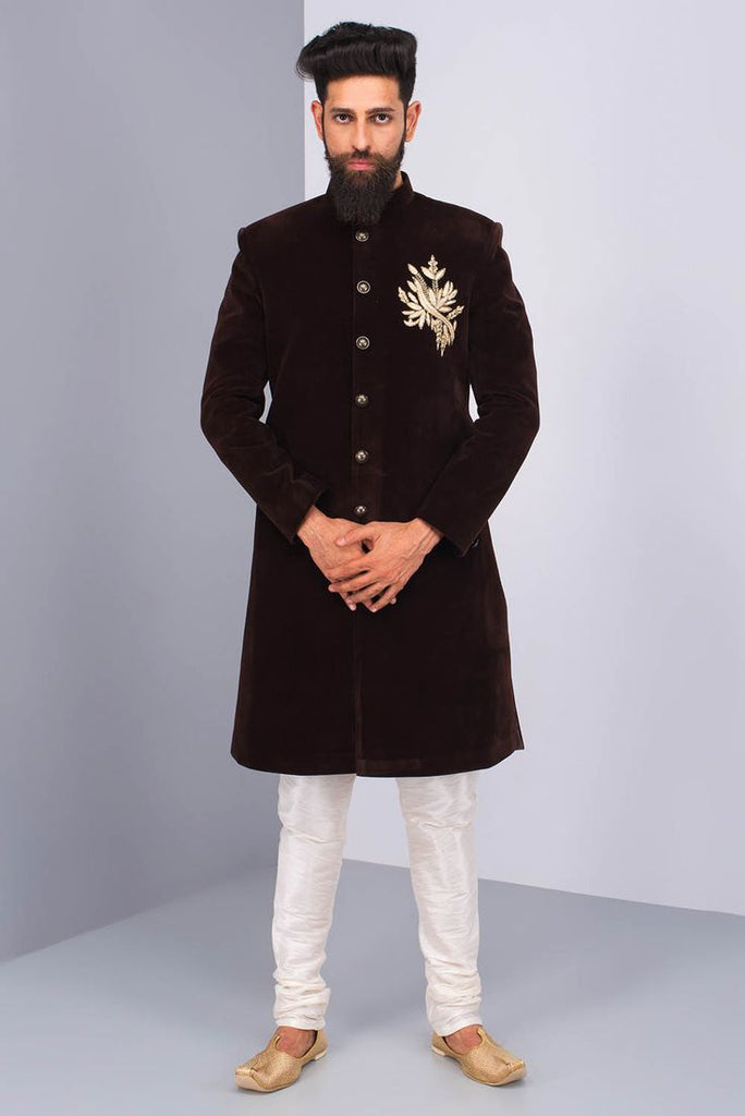 Smart Black Sherwani For Men