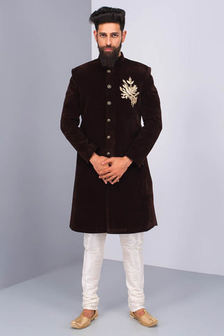 Wonderful Black Sherwani for men