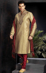 Smart Golden Sherwani For Men