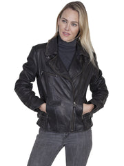 Smart Leather Women Motorcycle Jacket