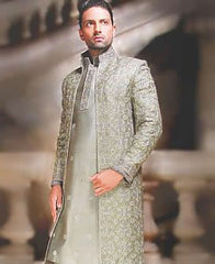 Grey Pakistani Sherwani