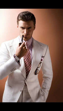 Stunning white suit for men