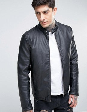 Stylish and trendy men leather jacket