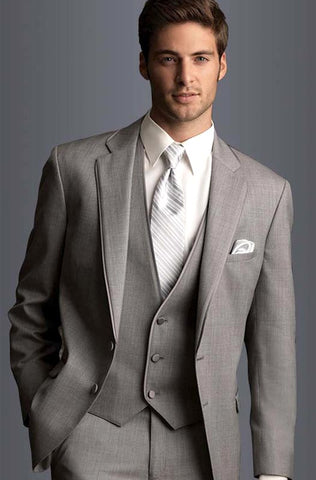 Gray  Men Wedding  Suit