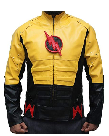 The Reverse Flash Yellow Leather Jacket