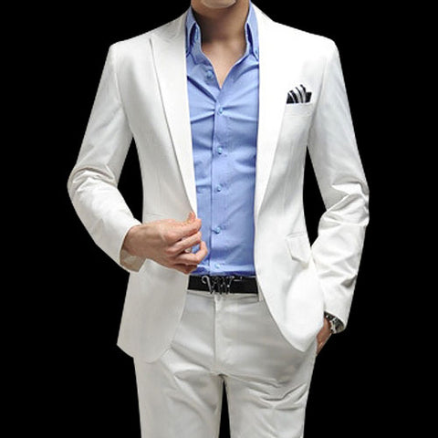 Trending and Stylish white suit for men