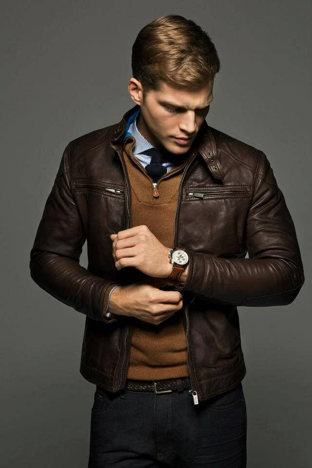 Uncommon Brown Leather Jacket for men