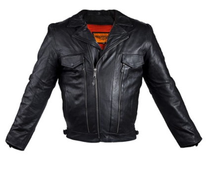 Unusual Men Leather Motorcycle Jacket