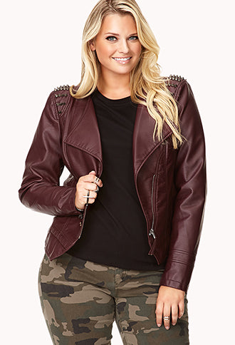 Uncommon plus size leather jacket