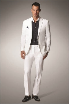 Unusual white suit for men