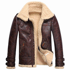 Warm and Comfortable Winter Leather Jacket