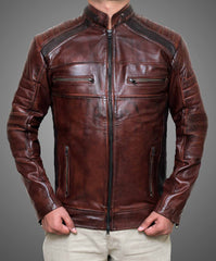 Waxed Chocolate Brown Jacket