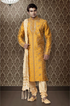 Wedding Golden Sherwani