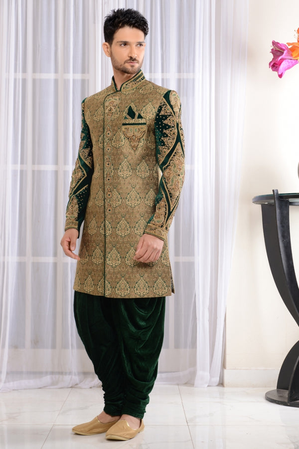Wedding Green Pakistani Sherwani