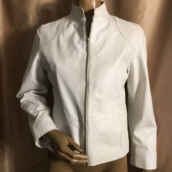 White Italian Leather Jacket