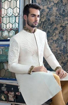 White Stylish Sherwani