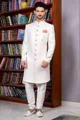 White Traditional Indian Sherwani