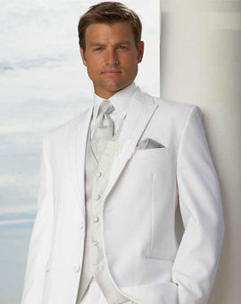 White wedding suit for men