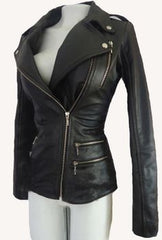 Women Biker Motorcycle Leather Designer