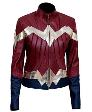Wonder Woman Blue Maroon 2017 Jacket