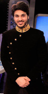 Wonderful Black Pakistani Sherwani