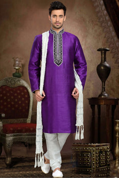 Wonderful Purple Colour Sherwani