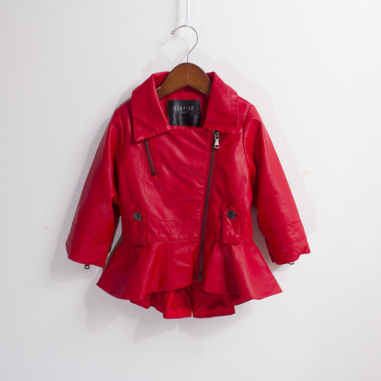 Wonderful Red Leather Jacket For Kids