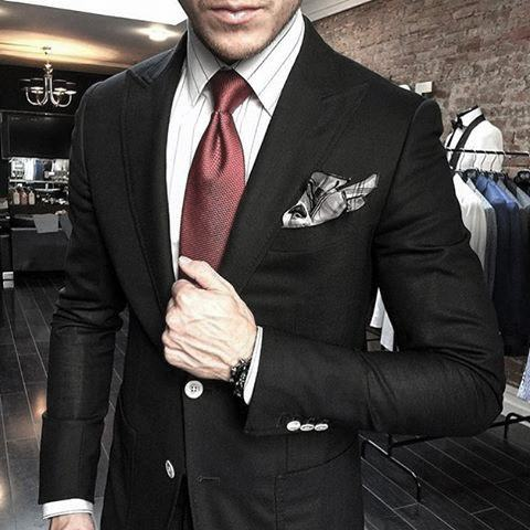 Wonderful black suit for men