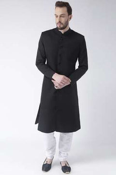 Graceful Black Sherwani